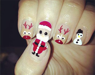 Santa Nail Designs Images Easy Nail Designs For Beginners Step By Step
