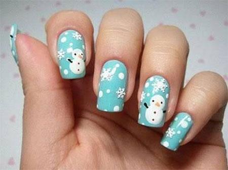 15 christmas snowman nail art designs ideas 2016 - Nail Art Design Ideas