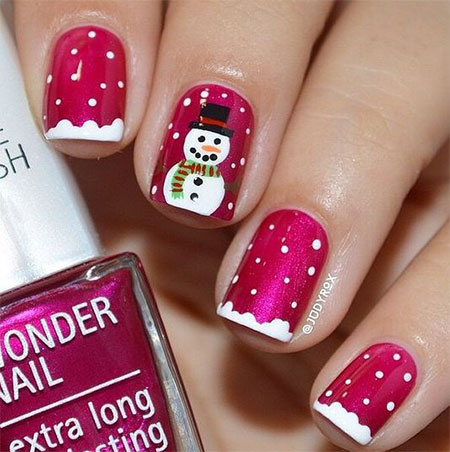 15-christmas-snowman-nail-art-designs-ideas-2016- - 15 Christmas Snowman Nail Art Designs & Ideas 2016 Xmas Nails