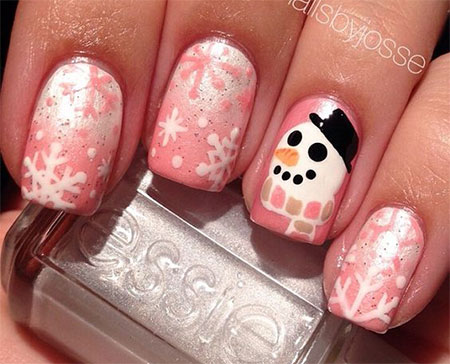 15 Christmas Snowman Nail Art Designs Ideas 2016
