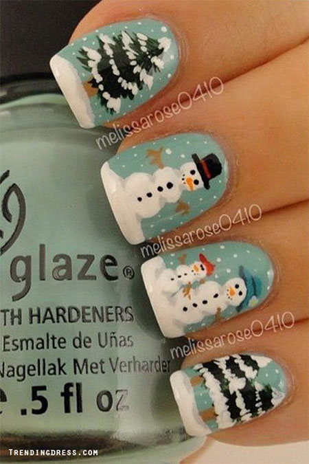 15 christmas snowman nail art designs ideas 2016 xmas nails 15 christmas snowman nail art designs ideas 2016 prinsesfo Images