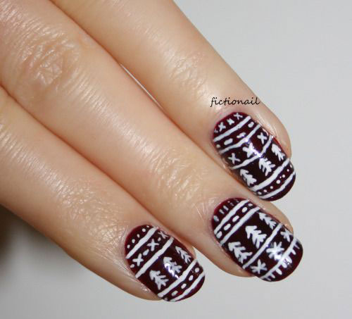15-ugly-christmas-sweater-nail-art-designs-ideas-2016-1