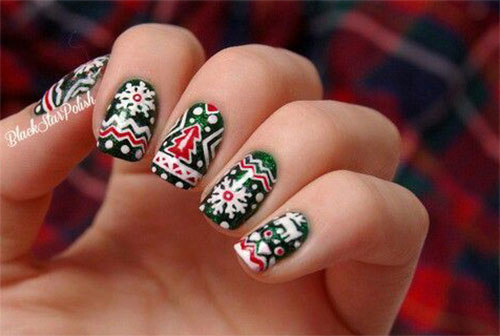 15-ugly-christmas-sweater-nail-art-designs-ideas-2016-10