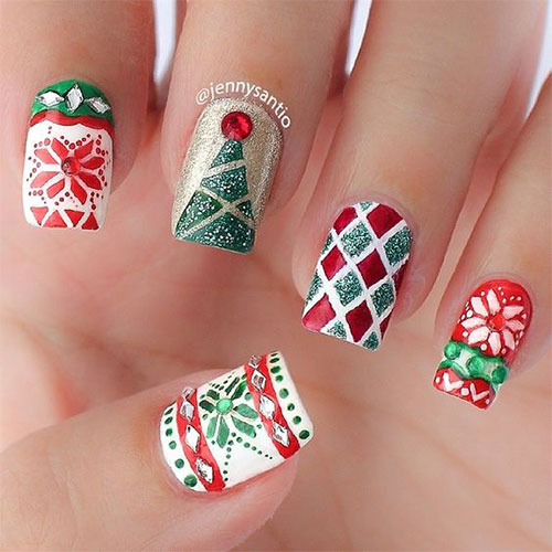 15-ugly-christmas-sweater-nail-art-designs-ideas-2016-11
