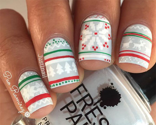 15-ugly-christmas-sweater-nail-art-designs-ideas-2016-15