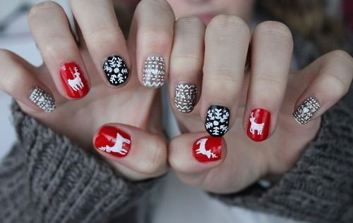 15-ugly-christmas-sweater-nail-art-designs-ideas-2016-16