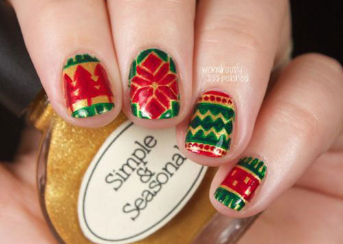 15-ugly-christmas-sweater-nail-art-designs-ideas-2016-3