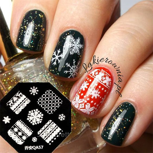 15-ugly-christmas-sweater-nail-art-designs-ideas-2016-4