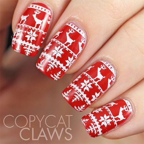 15-ugly-christmas-sweater-nail-art-designs-ideas-2016-7