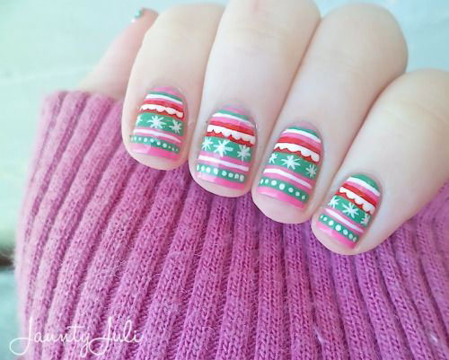 15-ugly-christmas-sweater-nail-art-designs-ideas-2016-9