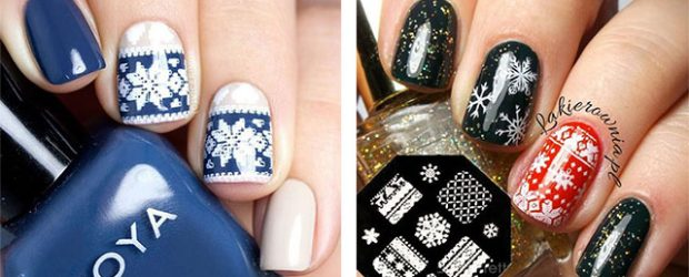 15-ugly-christmas-sweater-nail-art-designs-ideas-2016-f