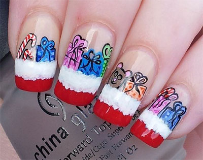 18-christmas-present-nail-art-designs-ideas-2016-xmas-nails-10