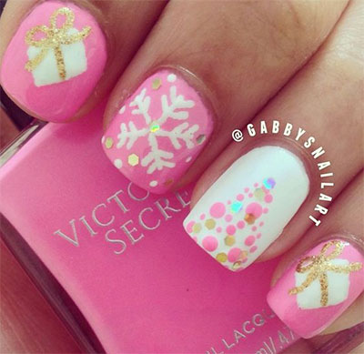 18-christmas-present-nail-art-designs-ideas-2016-xmas-nails-6