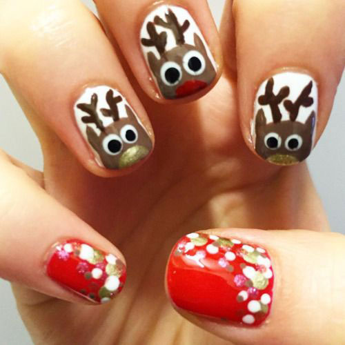 18-christmas-reindeer-nail-art-designs-ideas-2016-xmas-nails-11