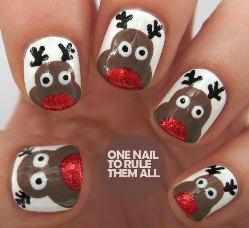 18 Christmas Reindeer Nail Art Designs Amp Ideas 2016 Xmas Nails Fabulous Nail Art Designs