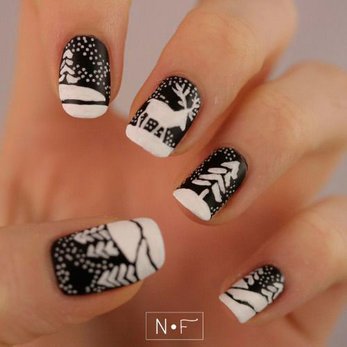 18-christmas-reindeer-nail-art-designs-ideas-2016-xmas-nails-14