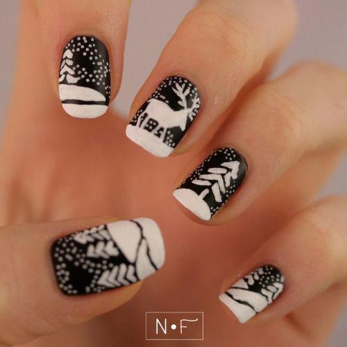 18-christmas-reindeer-nail-art-designs-ideas-2016-xmas-nails-14