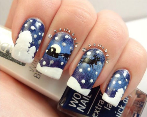18-christmas-reindeer-nail-art-designs-ideas-2016-xmas-nails-4