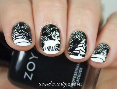 18-christmas-reindeer-nail-art-designs-ideas-2016-xmas-nails-6