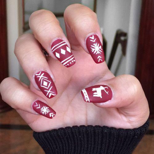 18-christmas-reindeer-nail-art-designs-ideas-2016-xmas-nails-9