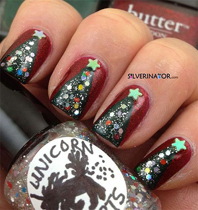 18-christmas-tree-nail-art-designs-ideas-2016- - 18+ Christmas Tree Nail Art Designs & Ideas 2016 Xmas Nails