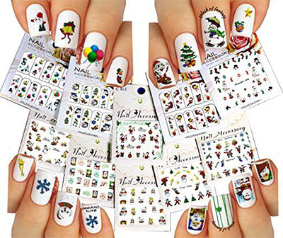 18 cute christmas nail art stickers decals 2016