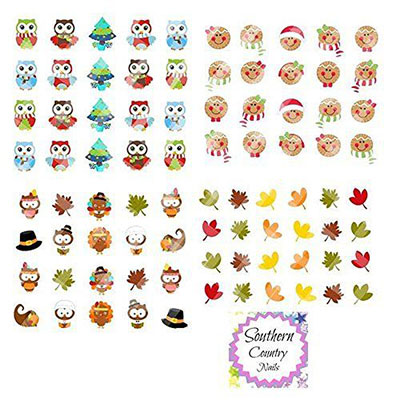 18 Cute Christmas Nail Art Stickers Amp Decals 2016