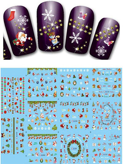 18-cute-christmas-nail-art-stickers-decals-2016-8