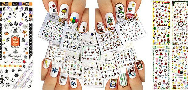 18 Cute Christmas Nail Art Stickers & Decals 2016