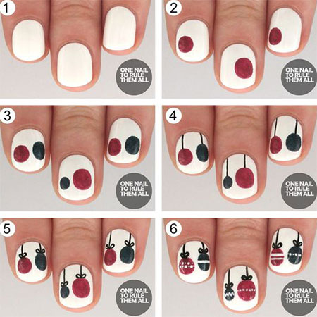 18 Easy Step By Step Christmas Nail Art Tutorials For Beginners 2016