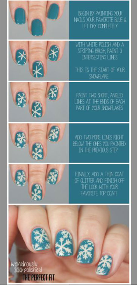 18 easy step by step christmas nail art tutorials for