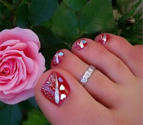Foot Nail Art Design: 20 Best Merry Christmas Toe Nail Art Designs 2016