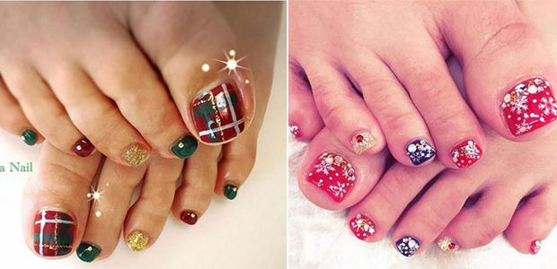 20 Best Merry Christmas Toe Nail Art Designs 2016 | Holiday Nails