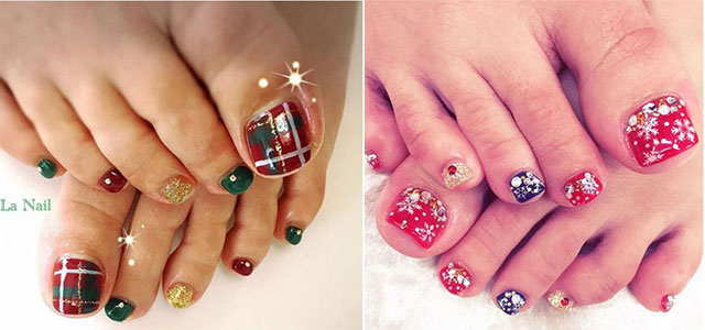 20 Best Merry Christmas Toe Nail Art Designs 2016 Holiday Nails Fabulous