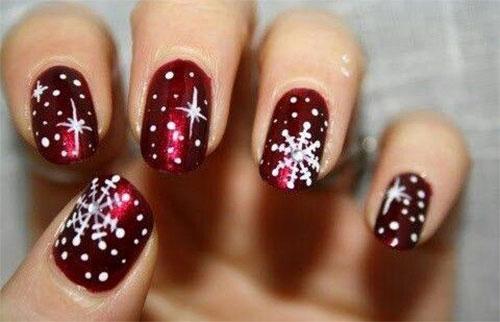 20 Christmas Snowflake Nail Art Designs Ideas 2016
