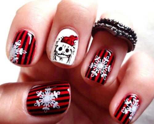 20 Christmas Snowflake Nail Art Designs Ideas 2016 Xmas Nails