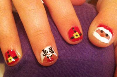 easy  cute christmas nail art designs  ideas for kids