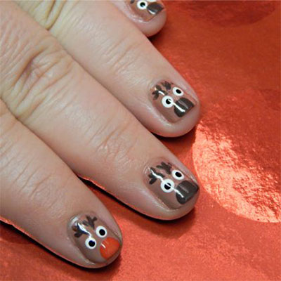 Easy Cute Christmas Nail Art Designs Ideas For Kids 2016 Xmas