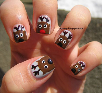 easy-cute-christmas-nail-art-designs-ideas-for-kids-2016-xmas-nails-5