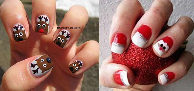 easy-cute-christmas-nail-art-designs-ideas-for-kids-2016-xmas-nails-f