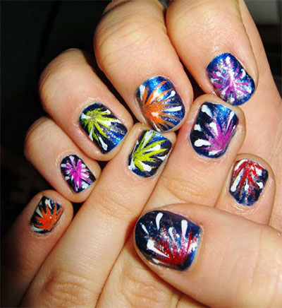 15-easy-simple-fireworks-nails-art-designs-ideas-2016-16