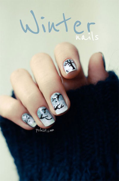 15-simple-easy-winter-nails-art-designs-ideas-2016-16