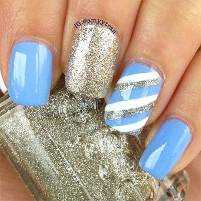 15 Simple Easy Winter Nails Art Designs Ideas