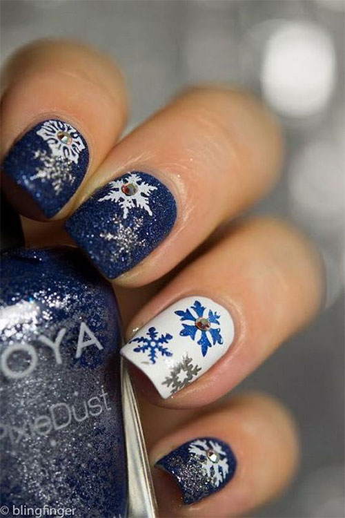 15+ Winter Snowflakes Nail Art Designs & Ideas 2016/ 2017 | Fabulous ...