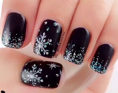 Nail designs for winter 2017 best nails 2018 18 awesome winter black nails art designs ideas 2016 2017 prinsesfo Image collections