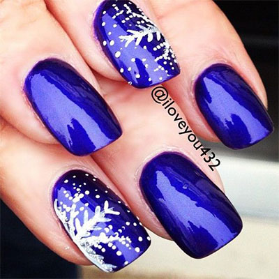 20 blue winter nails art designs ideas 2016 fabulous nail art designs. Black Bedroom Furniture Sets. Home Design Ideas