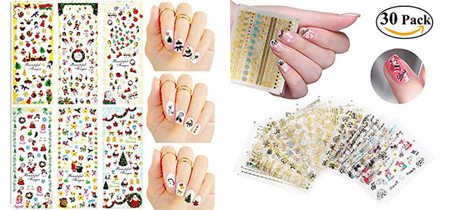 awesome-winter-nail-art-stickers-decals-2016-2017-f