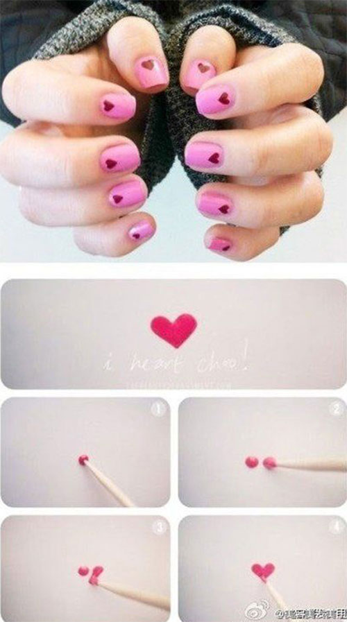 10-Step-By-Step-Valentines-Day-Nail-Art-Tutorials-For-Learners-2017-2