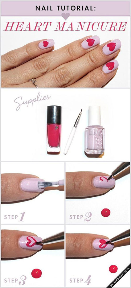 10-Step-By-Step-Valentines-Day-Nail-Art-Tutorials-For-Learners-2017-4