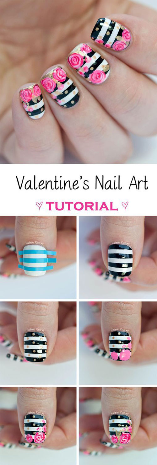 10-Step-By-Step-Valentines-Day-Nail-Art-Tutorials-For-Learners-2017-5